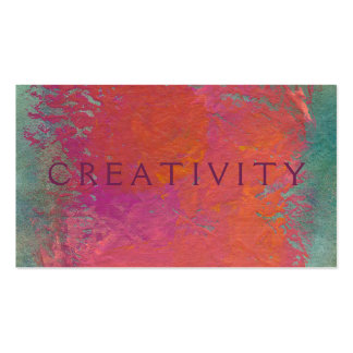Colorful pink orange modern art painting customize Double-Sided standard business cards (Pack of 100)