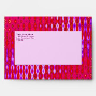 Colorful pink  pattern envelope