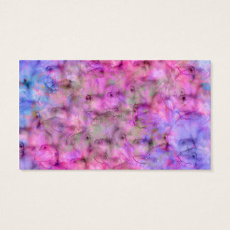 Colorful Pink Purple Mixed Watercolor Pattern Business Card