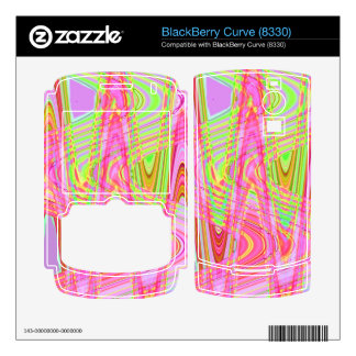 colorful pink yellow wave BlackBerry decal