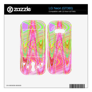 colorful pink yellow wave decal for LG neon