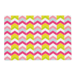 Colorful Pink ZigZag Chevron Pattern Placemat