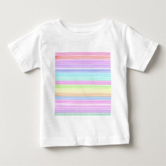Colorful Pinstripes Baby T-Shirt
