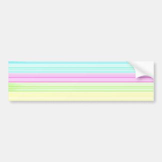 Colorful Pinstripes Car Bumper Sticker