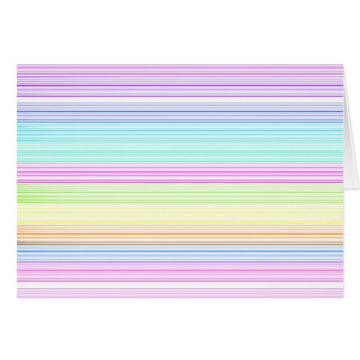 Colorful Pinstripes Greeting Cards