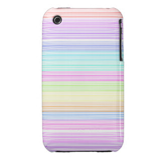 Colorful Pinstripes iPhone 3 Case
