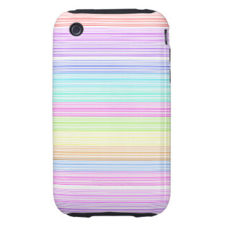 Colorful Pinstripes iPhone 3 Tough Case