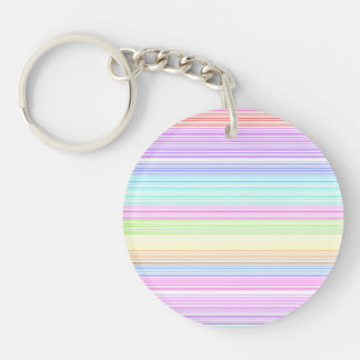 Colorful Pinstripes Keychain