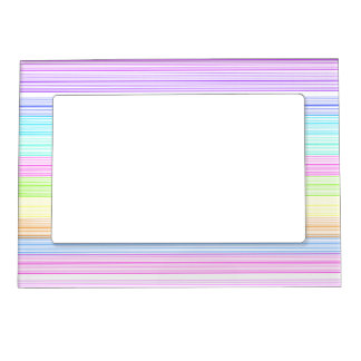 Colorful Pinstripes Magnetic Photo Frame