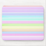 Colorful Pinstripes Mouse Pad
