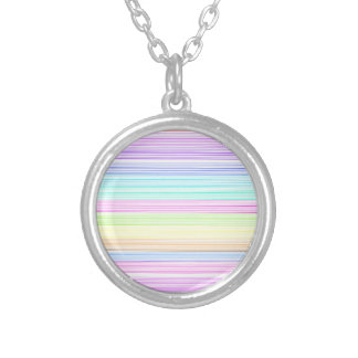 Colorful Pinstripes Personalized Necklace