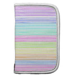 Colorful Pinstripes Folio Planner
