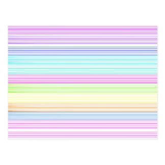 Colorful Pinstripes Postcard