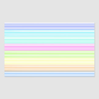 Colorful Pinstripes Rectangular Sticker