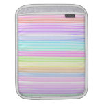 Colorful Pinstripes Sleeves For iPads
