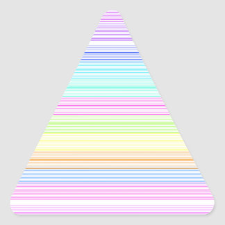 Colorful Pinstripes Triangle Sticker