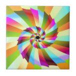 Colorful Pinwheel Abstract Design Ceramic Tiles