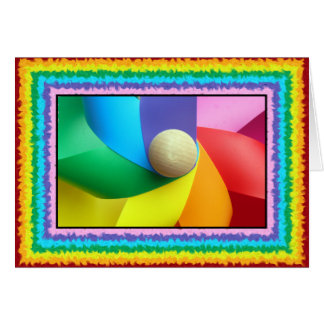 Colorful Pinwheel Card
