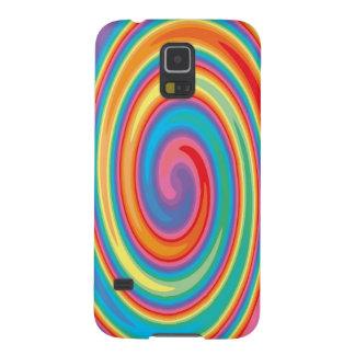 Colorful pinwheel design case for galaxy s5