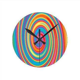 Colorful pinwheel design wallclock