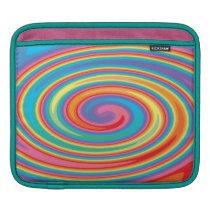 Colorful pinwheel design ipad sleeve
