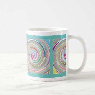 Colorful pinwheel design mug