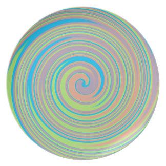 Colorful pinwheel design plate