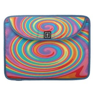 Colorful pinwheel macbook pro sleeve