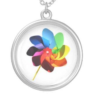Colorful Pinwheel Necklace