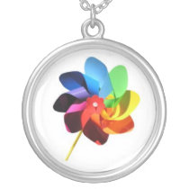 Colorful Pinwheel Necklace