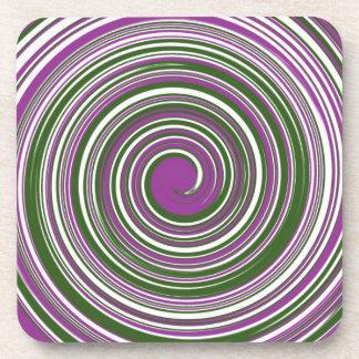 Colorful pinwheel pattern coaster