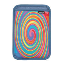 Colorful pinwheel pattern ipad mini sleeve