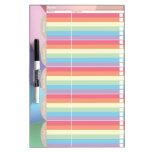 Colorful Pinwheel School Planner Dry-Erase Whiteboards