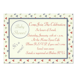 Colorful Pinwheels Baby Shower Card