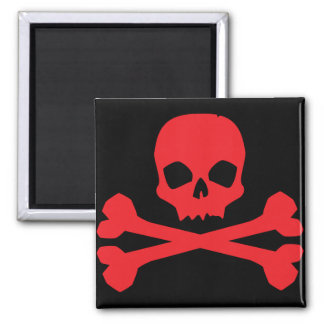 Colorful Pirate Flag 2 Inch Square Magnet