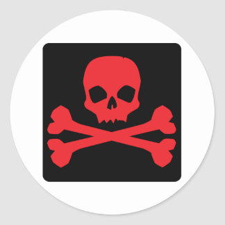 Colorful Pirate Flag Classic Round Sticker