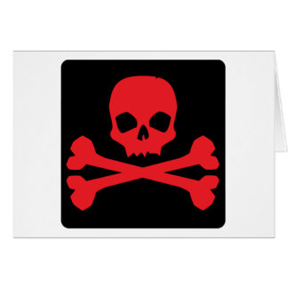 Colorful Pirate Flag Greeting Card