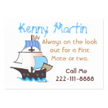 Colorful Pirate Ship Play Date Card Business Card Template