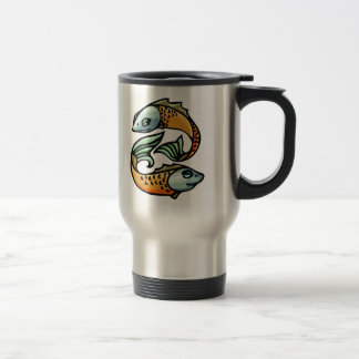 Colorful Pisces Fish Travel Mug