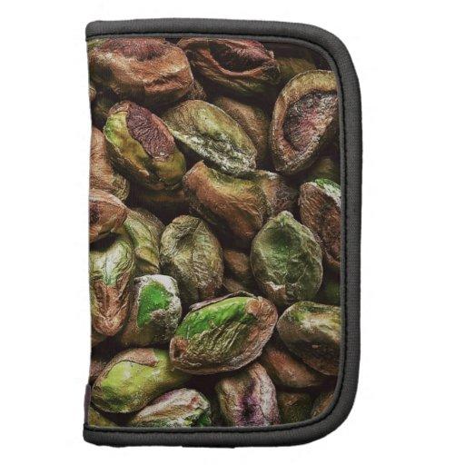 Colorful pistachio nuts art folio planners