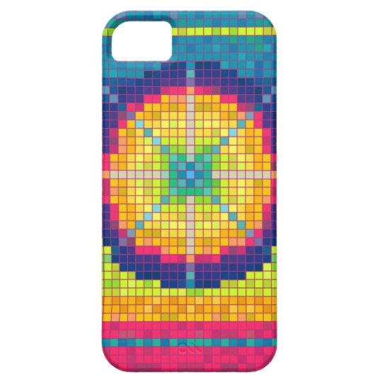 Colorful Pixel Art Abstract Pattern iPhone 5 Case