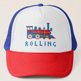 Colorful Pixel Locomotive Trucker Hat