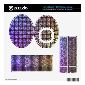 Colorful pixel mosaic background turtle beach px21 skin
