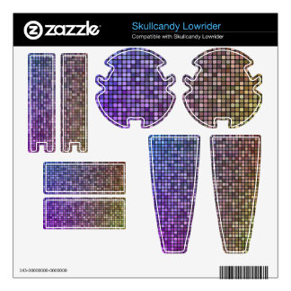 Colorful pixel mosaic background decal for skullcandy