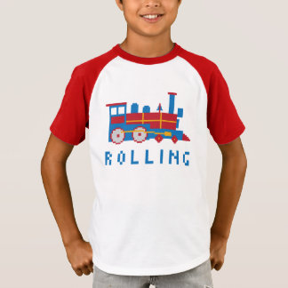 Colorful Pixel Train T-Shirt