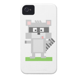 Colorful Pixelated Raccoon Sticking Out Tongue Case-Mate iPhone 4 Case