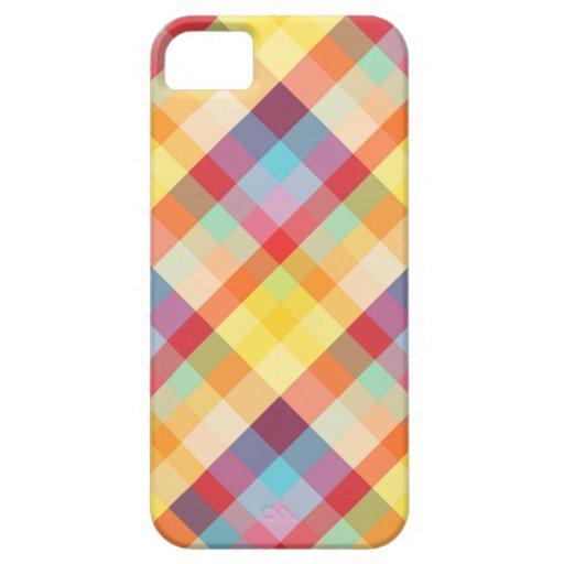 Colorful Pixels Plaid iPhone5 case