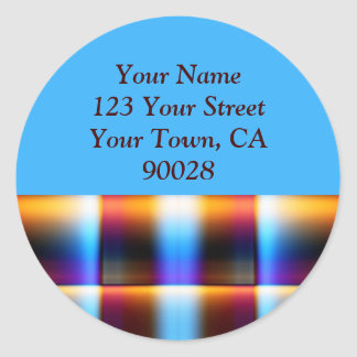 Colorful Plaid Address Labels