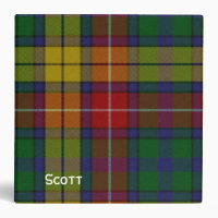 Colorful Plaid Binder