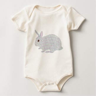 Colorful Plaid Bunny Rabbit Tshirts